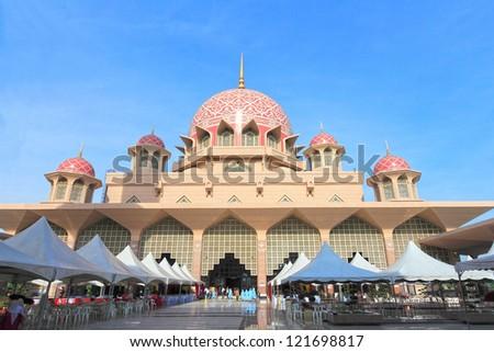 Putra Mosque at Putrajaya, Malaysia - stock photo