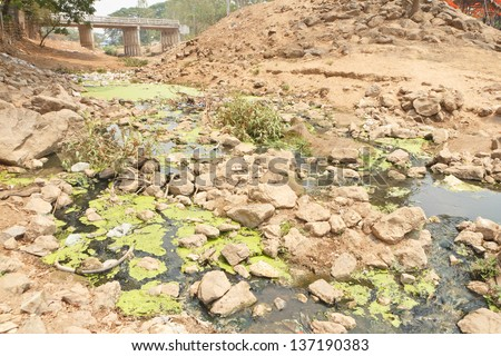 Putrid waste water canal. - stock photo
