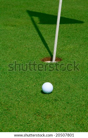 Putting for parr on the green - stock photo