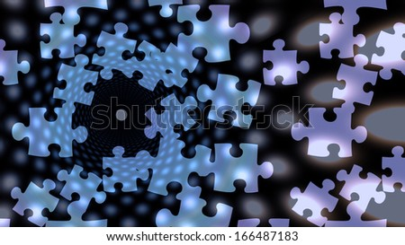 Puzzle abstract - stock photo