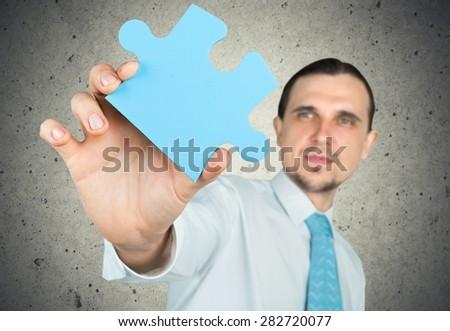 Puzzle, business, concept. - stock photo