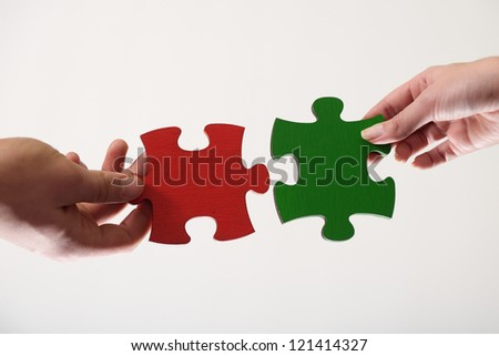 puzzle conection concept - stock photo