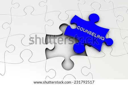 Puzzle counseling - stock photo