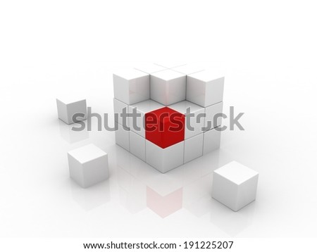 puzzle cube - stock photo