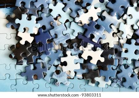 Puzzle detail - stock photo