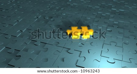 Puzzle - One of Many - stock photo