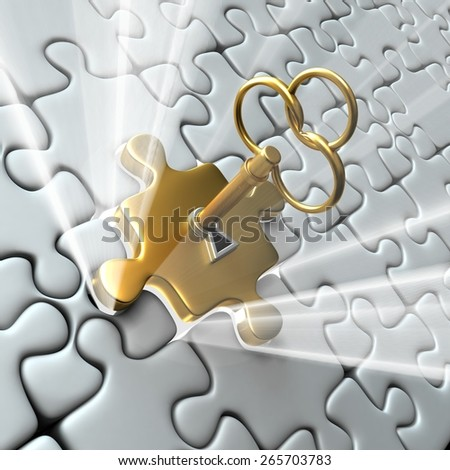 Puzzle Opening Concept - stock photo