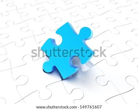 puzzle pieces - stock photo