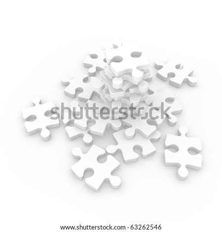 Puzzle to assemble - stock photo