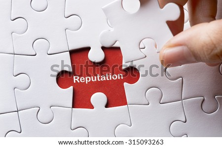 Puzzle with word reputation - stock photo