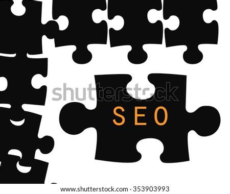puzzle writing seo - stock photo