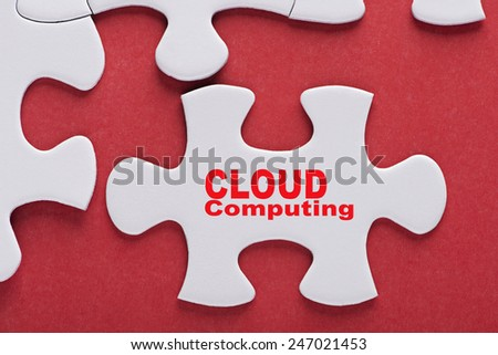 Puzzle written word Cloud Computing - stock photo