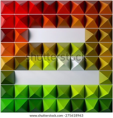 Pyramid as abstract background. 3D rendered pattern. - stock photo