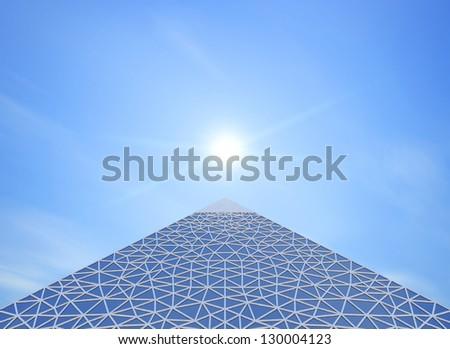 pyramid contemporary - stock photo