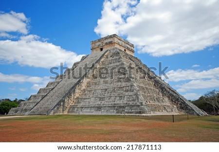 Pyramid El Castillo, Chichen Itza, Mexico - stock photo