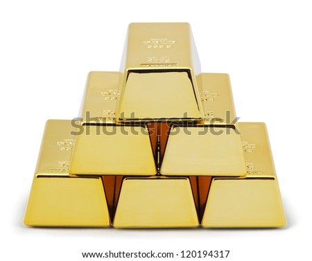 Pyramid golds. - stock photo