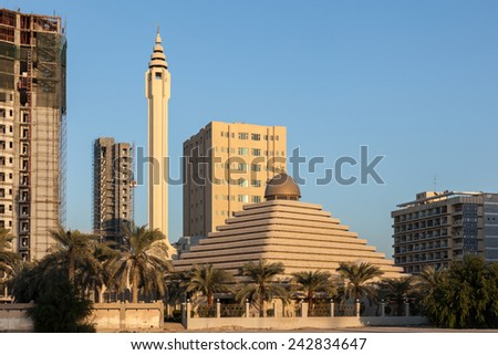 Pyramid Mosque in Kuwait City, Middle East - stock photo