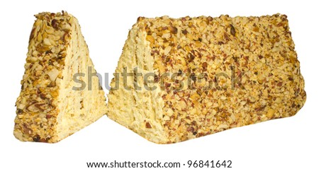 Pyramid Nuts Cake - stock photo