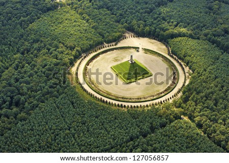 Pyramid of Austerlitz, the Netherlands - stock photo