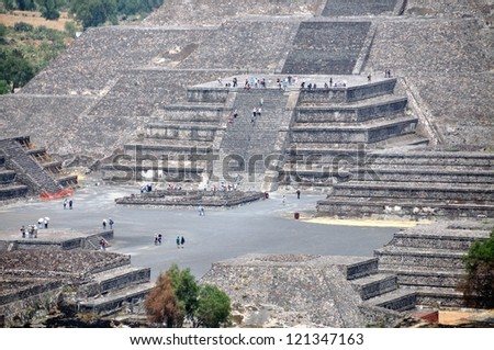 Pyramid of the Moon, Teotihuacan Pyramids, Mexico - stock photo