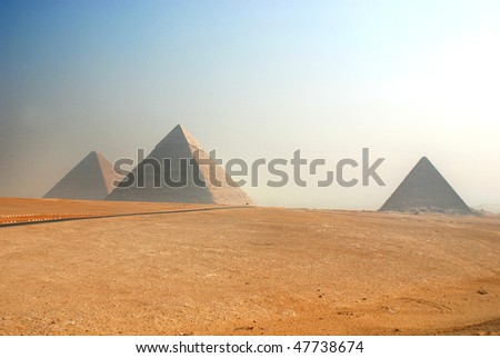 Pyramids Cairo Egypt - stock photo