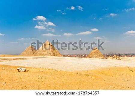 Pyramids in Egypt - stock photo