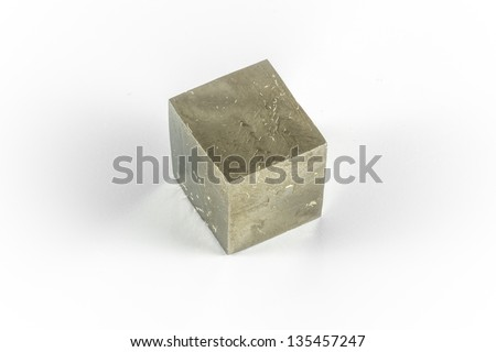 Pyrite is also known as �¢??fools gold�¢?? because it has a history of being mistaken for gold - stock photo