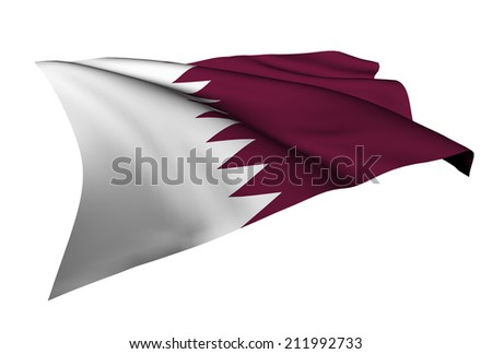 Qatar flag - collection no_5  - stock photo