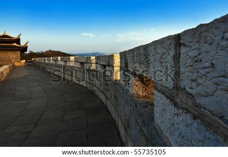 qingyan city wall (china) - stock photo