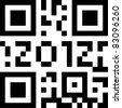 qr code 2012 - stock photo