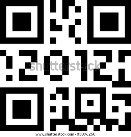 qr code 2012 - stock photo