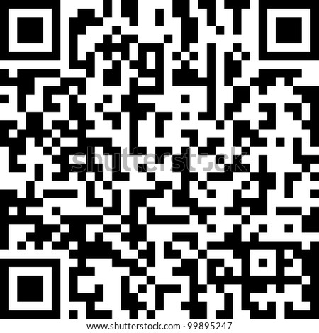 QR code abstract pattern - stock photo