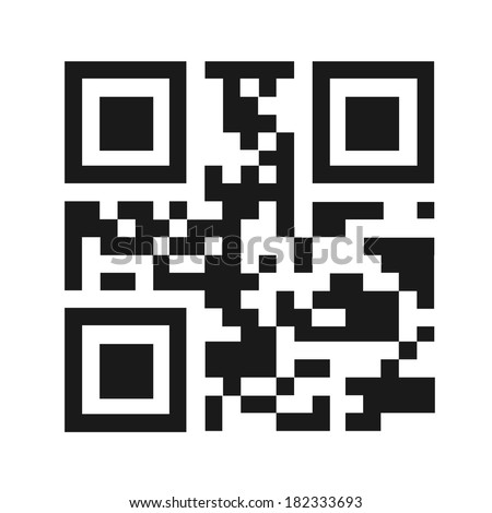 QR code illustration isolated. (EPS vector version also available in portfolio) - stock photo