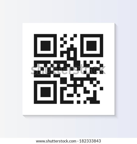 QR code tag illustration isolated. (EPS vector version also available in portfolio) - stock photo