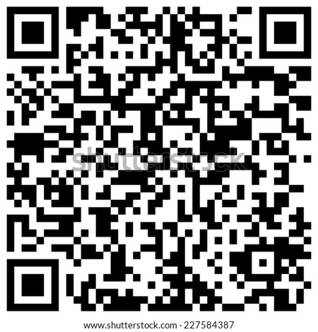 "QR code with text ""We wish you a merry Christmas and happy New Year!"" - stock photo"