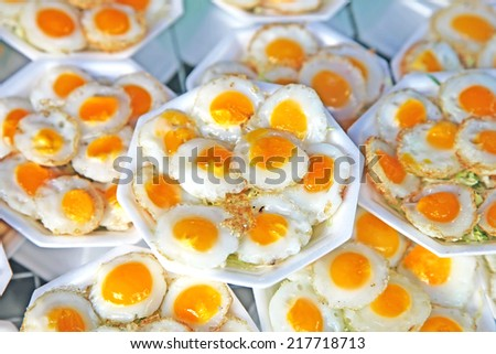 Quail eggs cooked as a snack - stock photo