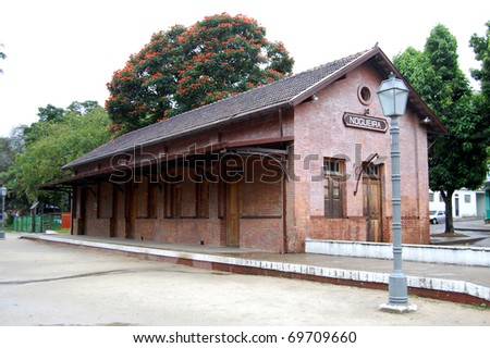 Quaint old country train station - stock photo