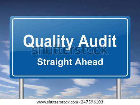 quality audit sign - stock photo