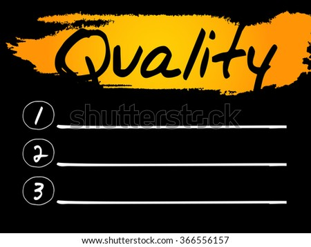 Quality Blank List, concept background - stock photo