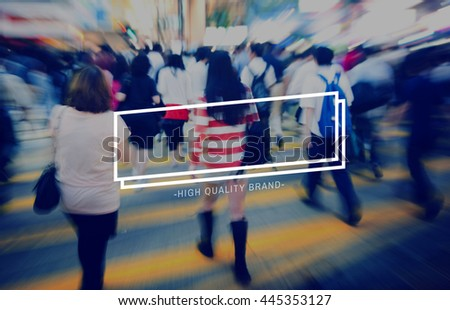 Quality Brand Product Standard Trademark Value Concept - stock photo