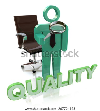 Quality Character Showing Perfection Approval And Excellent  - stock photo