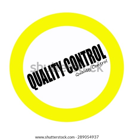 QUALITY CONTROL black stamp text on white - stock photo