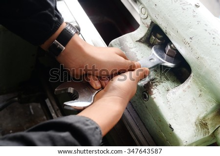 Quality control -manufacturing - stock photo
