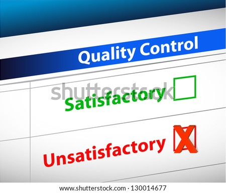 quality control Results business paperwork illustration design graphic - stock photo