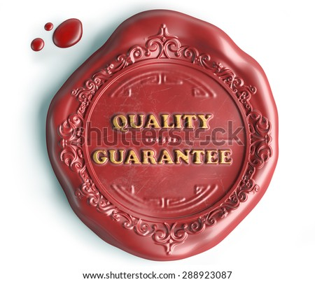 quality guarantee seal wax - stock photo