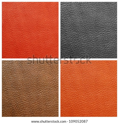 quality leather backgrounds set, Florence, Italy - stock photo