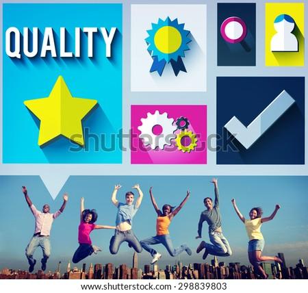 Quality Level Condition Grade Satisfaction Status Concept - stock photo