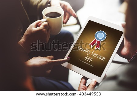 Quality Service Assistance Care Customer Concept - stock photo
