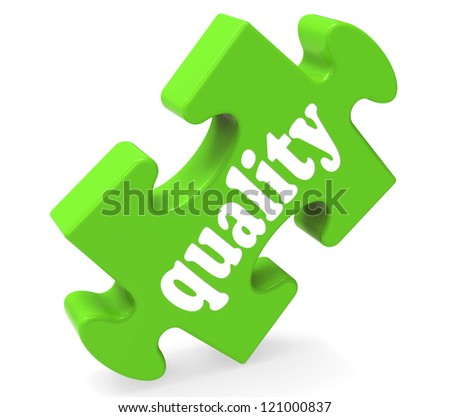 Quality Showing Excellent Service, Premium Products and Excellence - stock photo