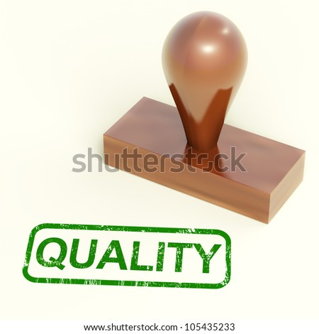 Quality Stamp Showing Excellent Superior Premium Products - stock photo